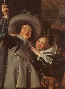 Frans Hals Young Man and Woman in an Inn oil