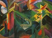 Franz Marc Deer in a Monastery Garden oil painting artist