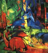 Franz Marc Deer in the Forest II oil painting picture wholesale