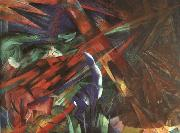 Franz Marc Animal Destinies : The Trees Show their Rings ; The Animals, their Veins oil painting picture wholesale