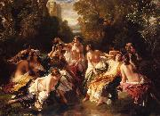 Franz Xaver Winterhalter Florinda oil painting picture wholesale