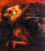 Franz von Stuck The Kiss of the Sphinx oil painting picture wholesale