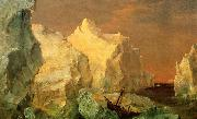 Frederic Edwin Church Icebergs and Wreck in Sunset oil painting picture wholesale