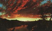 Frederick Edwin Church Secluded Landscape at Sunset oil painting artist