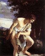 GENTILESCHI, Orazio David Contemplating the Head of Goliath fh oil painting picture wholesale