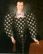 GHEERAERTS, Marcus the Younger Portrait of Mary Rogers: Lady Harrington dfg oil painting artist