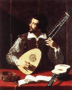 GRAMATICA, Antiveduto The Theorbo Player dfghj oil painting artist