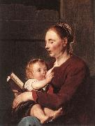 GREBBER, Pieter de Mother and Child sg oil painting artist