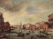 GUARDI, Francesco The Grand Canal, Looking toward the Rialto Bridge sg oil painting picture wholesale
