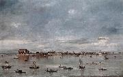 GUARDI, Francesco San Cristoforo, San Michele and Murano, Seen from the Fondamenta Nuove sh oil painting picture wholesale