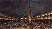 GUARDI, Francesco Nighttime Procession in Piazza San Marco fdh oil painting picture wholesale
