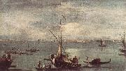 GUARDI, Francesco The Lagoon with Boats, Gondolas, and Rafts kug oil painting picture wholesale