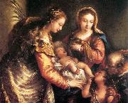 GUARDI, Gianantonio Holy Family with St John the Baptist and St Catherine gu oil painting picture wholesale