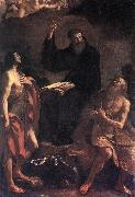 GUERCINO St Augustine, St John the Baptist and St Paul the Hermit hf oil painting picture wholesale