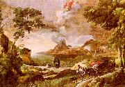 Gaspard Dughet Landscape with St.Augustine and the Mystery of the Trinity oil painting picture wholesale