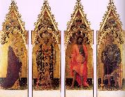 Gentile da  Fabriano Four Saints of the Quaratesi Polyptych oil painting artist