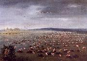George Catlin Ambush for Flamingoes oil painting artist