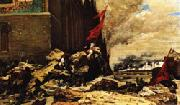 Georges Clairin The Burning of the Tuileries oil painting artist