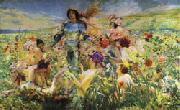 Georges Rochegrosse The Knight of the Flowers(Parsifal) oil painting picture wholesale