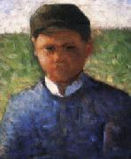 Georges Seurat The Little Peasant in Blue oil painting picture wholesale