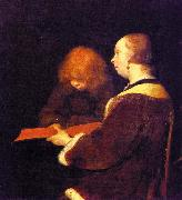 Gerard Ter Borch The Reading Lesson oil painting artist