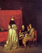 Gerard Ter Borch Paternal Advice oil painting artist