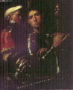 Giorgione Portrait of Warrior with his Equerry sg oil painting artist