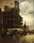 Giuseppe De Nittis The Place des Pyramides oil painting artist