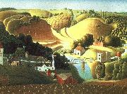 Grant Wood Stone City, Iowa oil painting artist