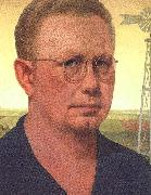 Grant Wood Self Portrait  bdfhbb oil painting artist