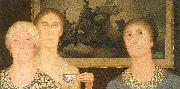 Grant Wood Daughters of the Revolution oil painting artist