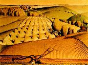 Grant Wood Young Com oil painting artist