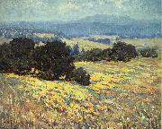 Granville Redmond California Oaks and Poppies oil painting artist