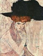 Gustav Klimt The Black Feather Hat oil painting artist