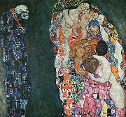 Gustav Klimt Death and Life oil painting artist