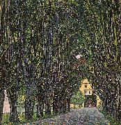 Gustav Klimt Avenue in Schloss Kammer Park oil painting artist