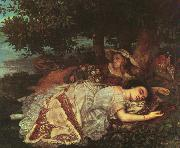 Gustave Courbet The Young Ladies of the Banks of the Seine oil