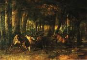 Gustave Courbet Spring Rutting;Battle of Stags oil painting picture wholesale