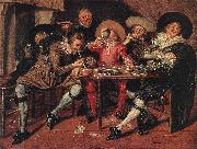 HALS, Dirck Amusing Party in the Open Air s oil painting picture wholesale
