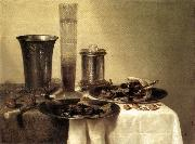 HEDA, Willem Claesz. Breakfast Still-Life sg oil painting artist