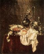 HEDA, Willem Claesz. Ham and Silverware wsfg oil painting picture wholesale