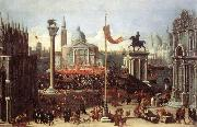 HEINTZ, Joseph the Younger Imaginary Scene with Venetian Buildings sg oil painting picture wholesale