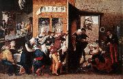 HEMESSEN, Jan Sanders van Merry Company s oil painting picture wholesale