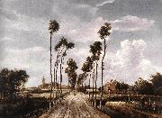 HOBBEMA, Meyndert The Alley at Middelharnis g oil painting picture wholesale