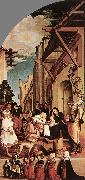 HOLBEIN, Hans the Younger The Oberried Altarpiece (left wing) sg oil painting picture wholesale