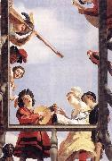 HONTHORST, Gerrit van Musical Group on a Balcony sf oil painting picture wholesale