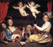 HONTHORST, Gerrit van Concert on a Balcony sg oil painting picture wholesale