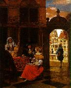 HOOCH, Pieter de Musical Party in a Courtyard sg oil painting picture wholesale