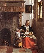 HOOCH, Pieter de Woman Peeling Apples  sg oil painting picture wholesale