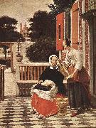 HOOCH, Pieter de Woman and Maid sg oil painting picture wholesale